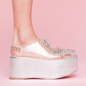 Jeffrey Campbell spike clear creeper platforms